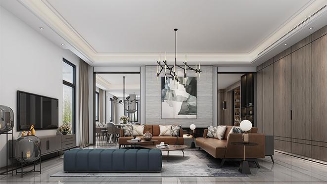大华诺斐墅900平米轻奢风格别墅装修设计案例