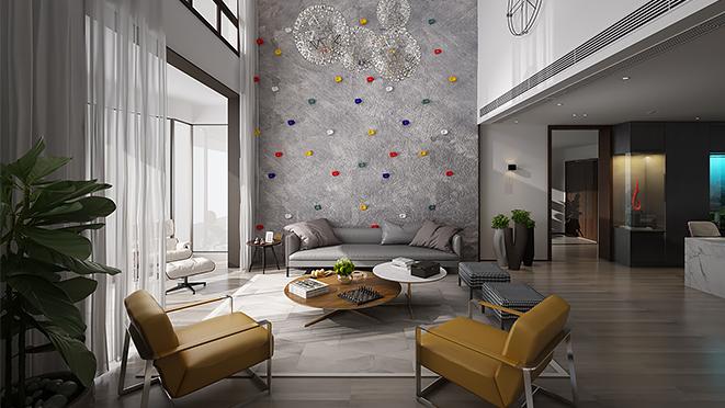 吉田国际420平米现代风格别墅装修设计案例