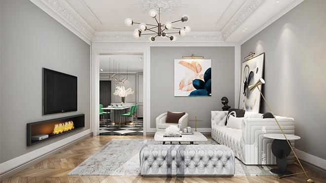 森兰名轩340平米法式混搭风格别墅装修设计案例