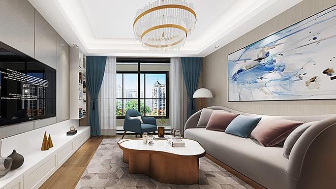 嘉御庭146平米现代轻奢风格软装设计案例