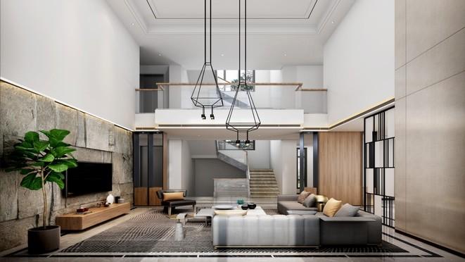 海珀佘山826平米现代简约风格别墅装修设计案例