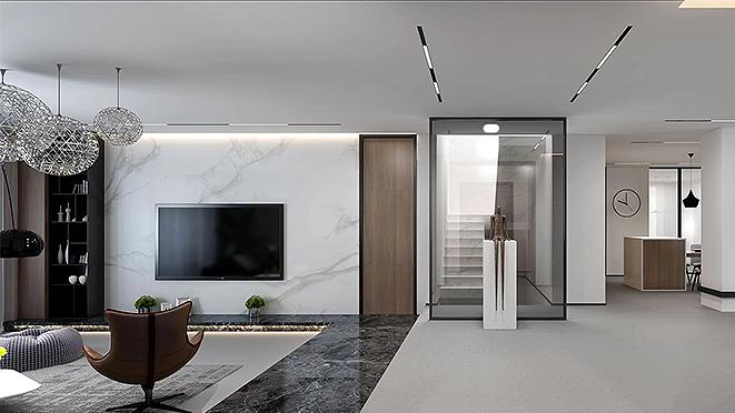 绿地香颂500平米现代风格别墅装修设计案例