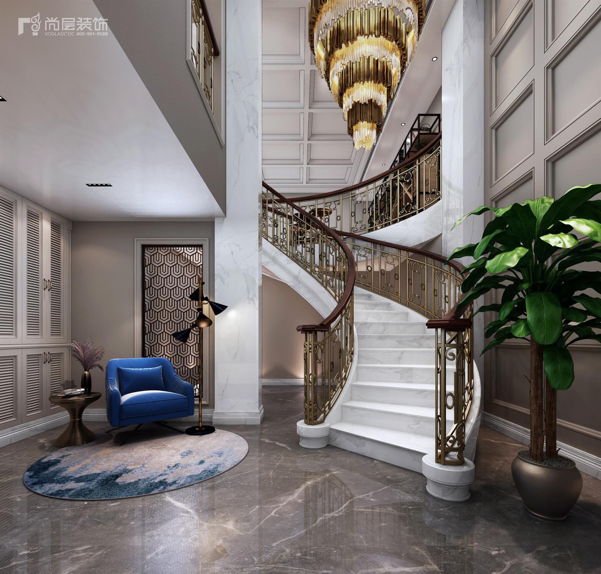 中海紫御豪庭750平米法式轻奢别墅装修设计案例