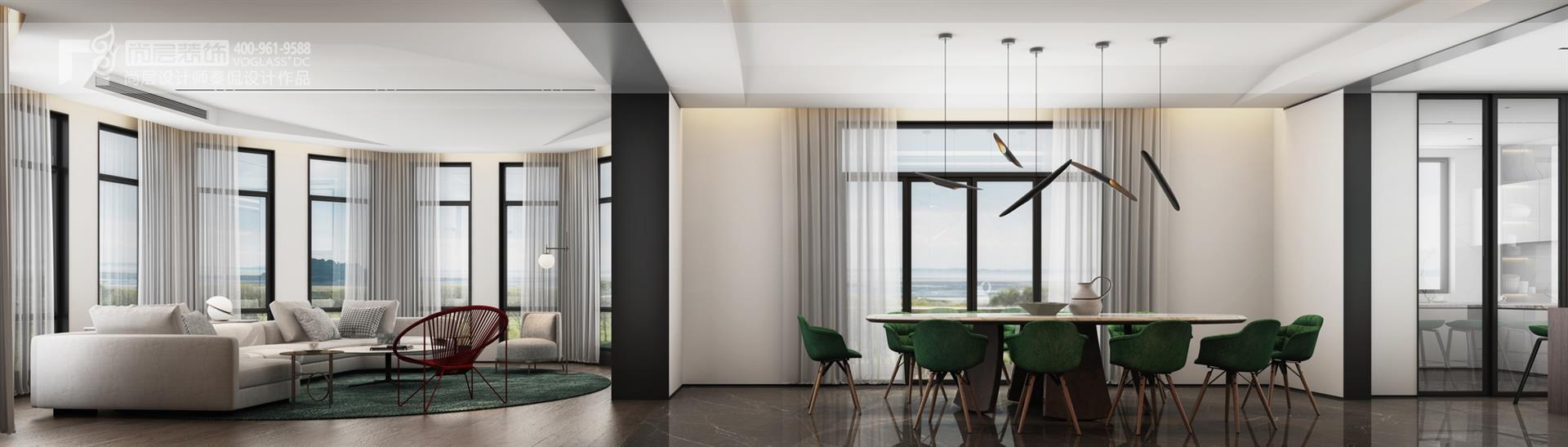 紫都晶园580平方米中国现代风格别墅装修设计案例